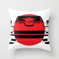 240Z - Japanese Flag Throw Pillow