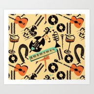 Jazz Rhythm (positive) Art Print