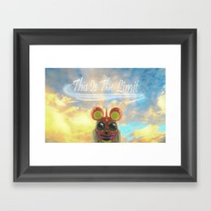 This Is The Limit Framed Art Print