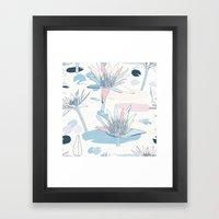 Waterlilies In Pastels Framed Art Print