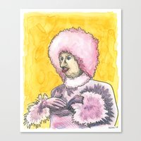 Chicken Lady Canvas Print