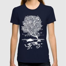 Life After Death Womens Fitted Tee Navy SMALL