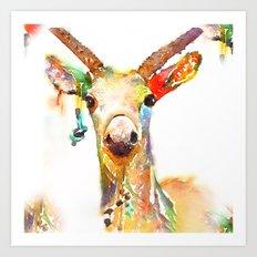 Deer (H)art Art Print