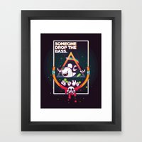 SOMEONE DROP THE BASS. (… Framed Art Print