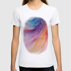 Rainbow Doodles Womens Fitted Tee Ash Grey SMALL