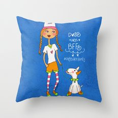 Dogs Are BBFs ❤️ Throw Pillow