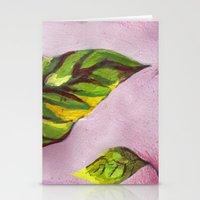 big green leaf Stationery Cards