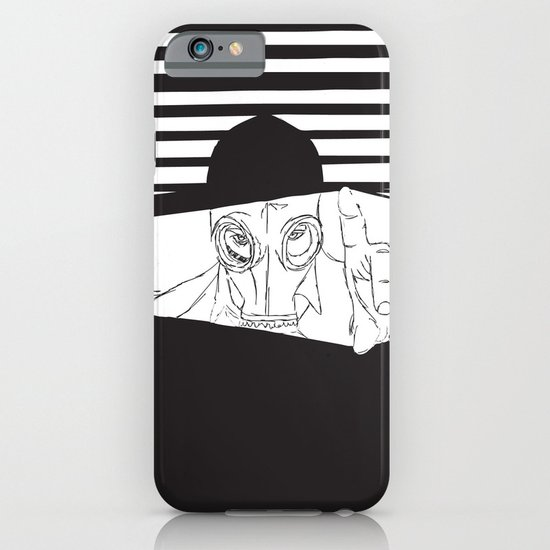 Man in the Mask -Watching your Walls iPhone & iPod Case