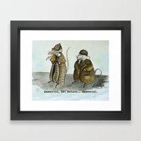 Sherlock Holmes Wisdom Framed Art Print