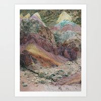 Calico Mountains Art Print
