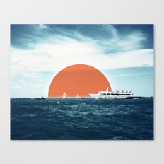 Shipping Sun Canvas Print