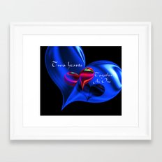 Two Hearts Together As One Framed Art Print