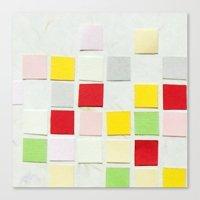 Colour Blocks Papercut Canvas Print