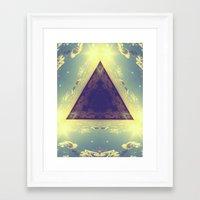 Triangles in the sky Framed Art Print