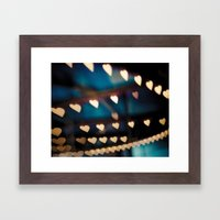 Carousel Hearts Framed Art Print
