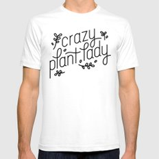 Crazy Plant Lady Mens Fitted Tee SMALL White