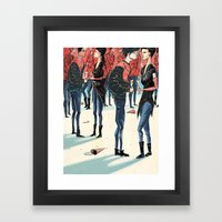 Hipster Party Framed Art Print