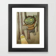 Wild Thing Jumping Framed Art Print
