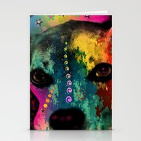 dogs Stationery Cards featuring  dogs by mark ashkenazi
