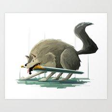 Great Wolf Sif - Dark So… Art Print