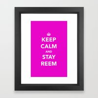 Keep calm and stay reem Framed Art Print
