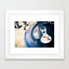 Espresso and Water Framed Art Print