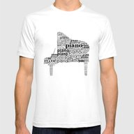 T-shirt featuring Typographic Piano by Hedehede