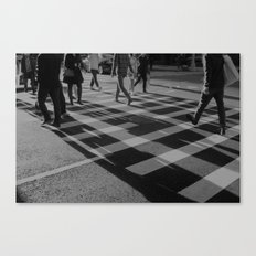 Crosswalk Shadows - Solarized Canvas Print
