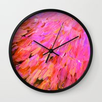 SEA SCALES IN PINK - Hot… Wall Clock