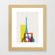 Shapes Of Paris. Accurat… Framed Art Print