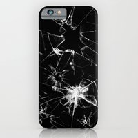 iPhone & iPod Case featuring Shatterd+black by ELECTRICMETHOD.NET