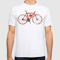 Love Bike, Love Canada Mens Fitted Tee Ash Grey SMALL