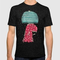 Its Raining Again Mens Fitted Tee Tri-Black SMALL