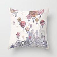 Voyages Over Santa Monic… Throw Pillow