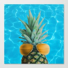 Pineapple By The Pool Canvas Print