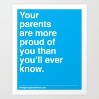 Your Parents Art Print