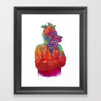 FLOWERS HEAD Framed Art Print