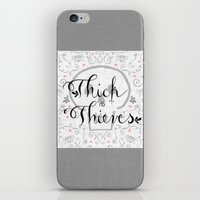 Thick As Thieves iPhone & iPod Skin