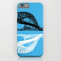 iPhone & iPod Case featuring sydney in blue by Jette Geis