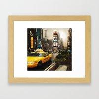Rainy Day in New York Framed Art Print