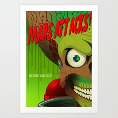 Mars Attacks! Alternative Movie Poster Art Print