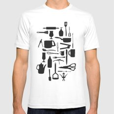 Kitchen Mens Fitted Tee White SMALL