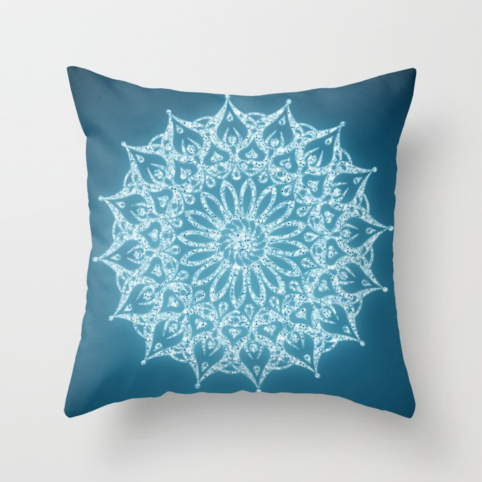 Zen Throw Pillows : Zen Mandala (Serenity) Throw Pillow by Diego Tirigall Society6