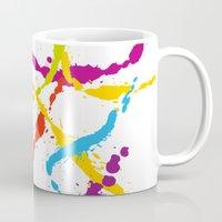 Splattered Rainbow [WHITE] Mug
