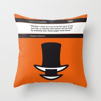 No020 MY David Copperfield Book Icon poster Throw Pillow
