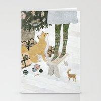 Christmas Tree Decoratin… Stationery Cards
