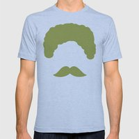 Moustache2 Mens Fitted Tee Athletic Blue SMALL