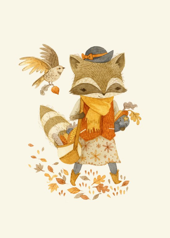 Rebecca the Radish Raccoon Canvas Print