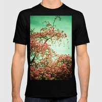 Flowers Touch the Sky Mens Fitted Tee Black SMALL