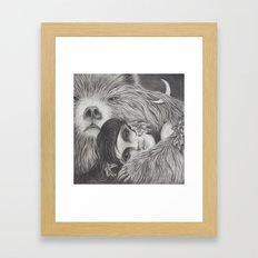 The Night is a Black Bear Framed Art Print